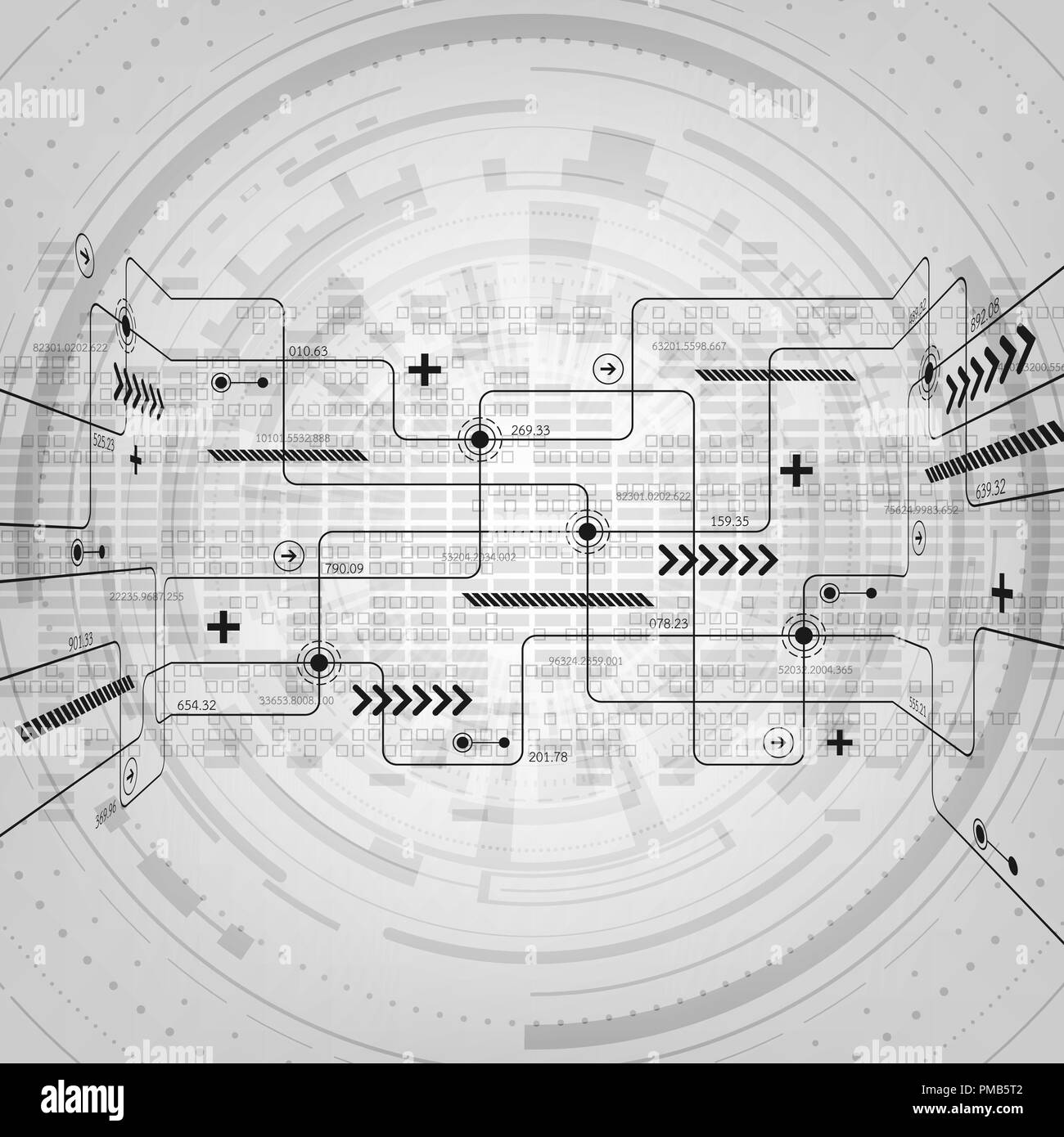 Electric Circuit Stock Vector Images Alamy Vendo 63 Wiring Diagram Abstract Background Technology Electronic Design