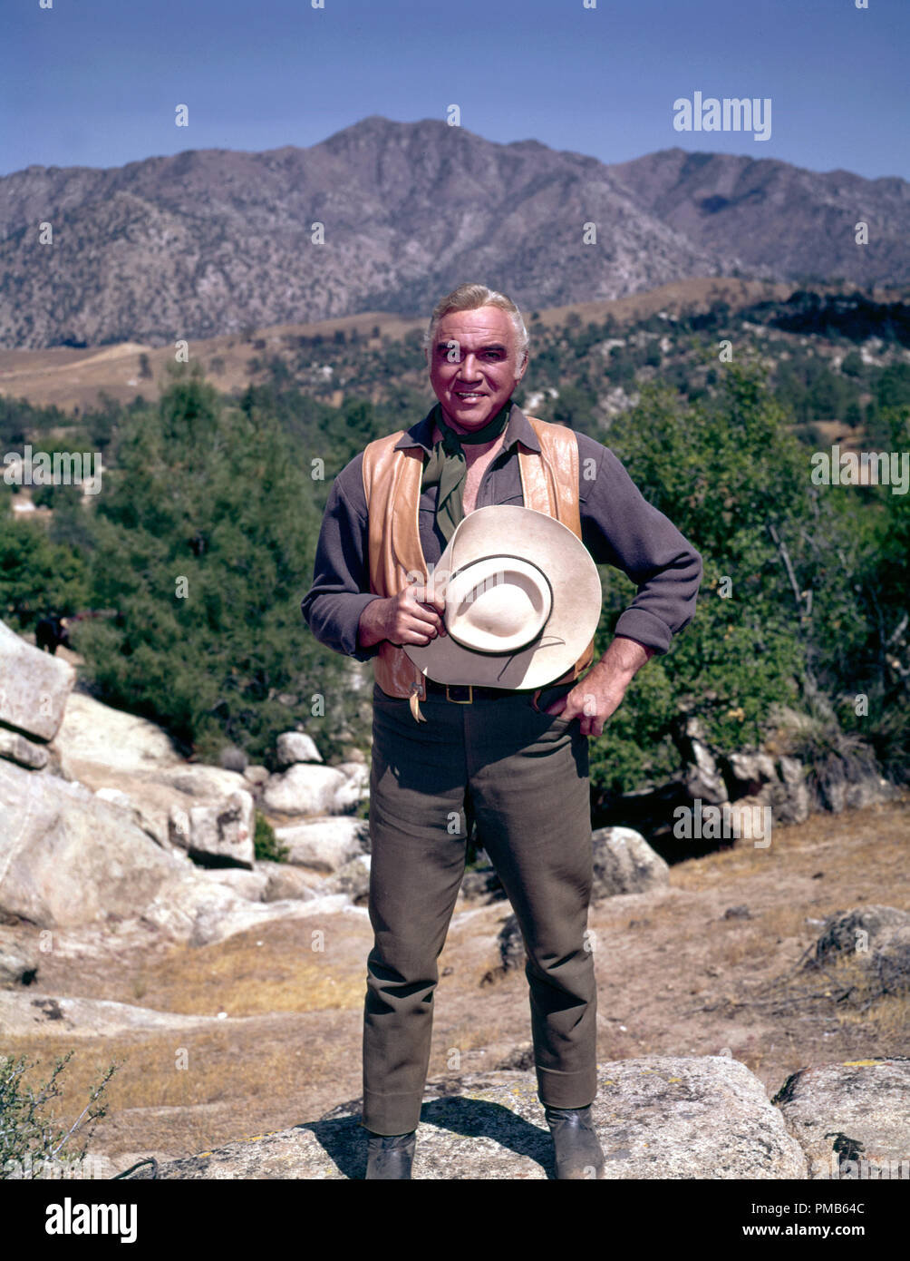 "Lorne Greene, ""Bonanza"" (1963)  File Reference # 33536 803THA  For Editorial Use Only -  All Rights Reserved Stock Photo"