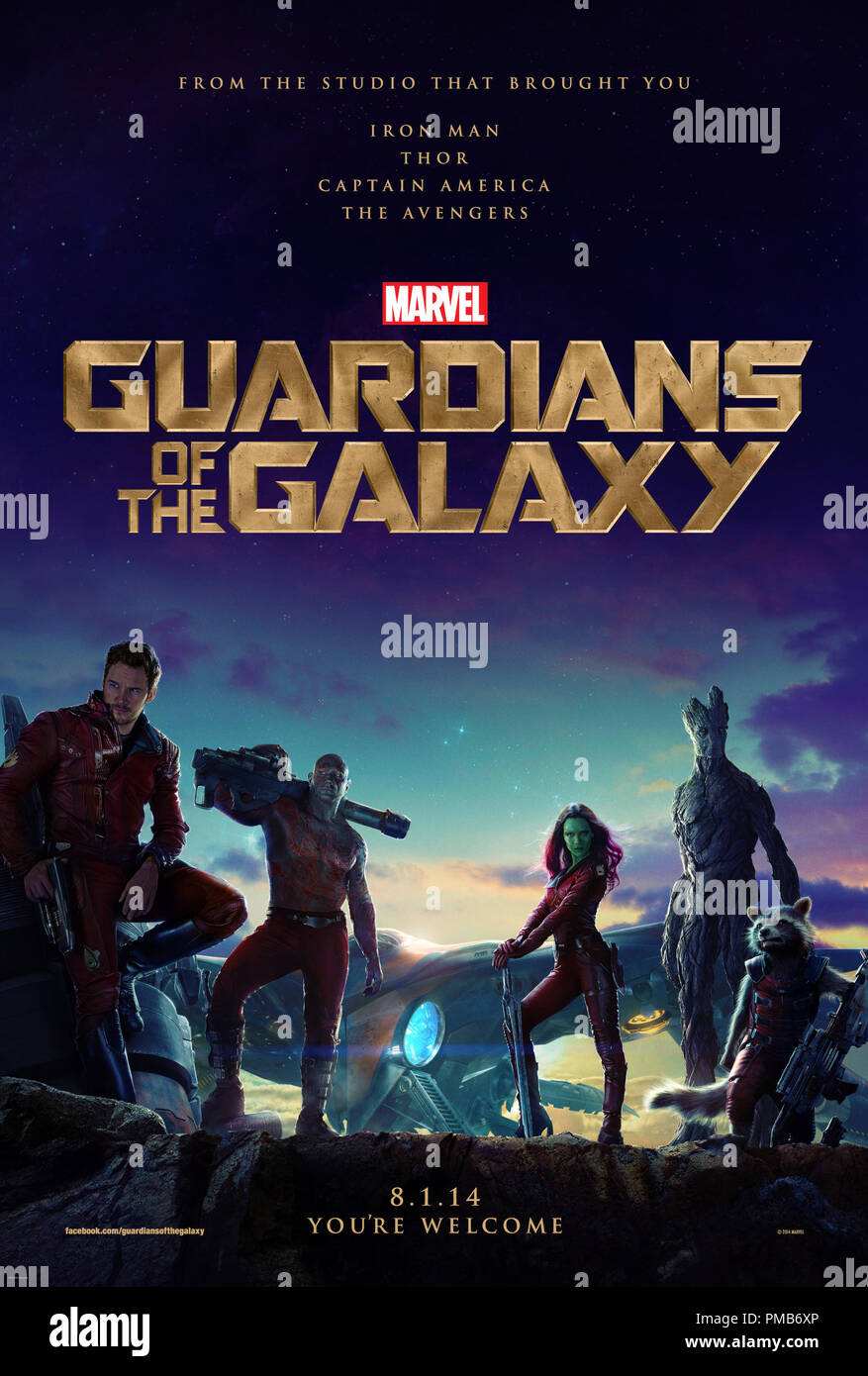 Marvel's Guardians Of The Galaxy Poster Stock Photo
