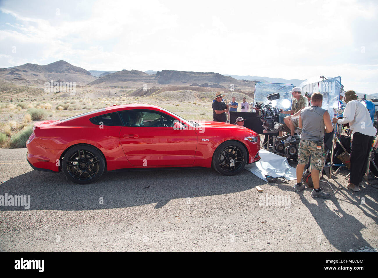 DreamWorks Pictures' 'Need for Speed'. Behind the Scenes - Stock Image