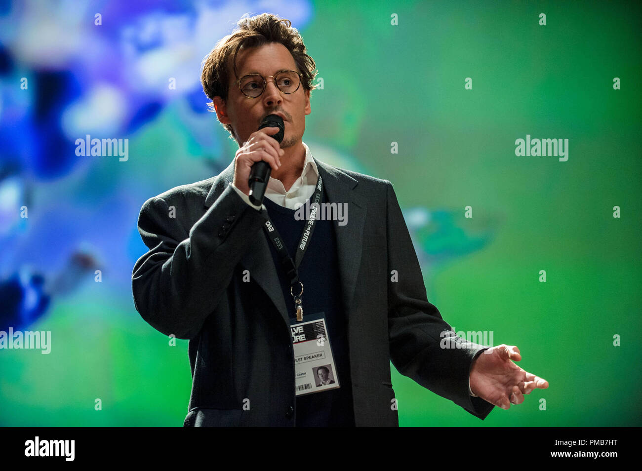 "JOHNNY DEPP as Will Caster in Alcon Entertainment's sci-fi thriller ""TRANSCENDENCE,"" a Warner Bros. Pictures release. Stock Photo"