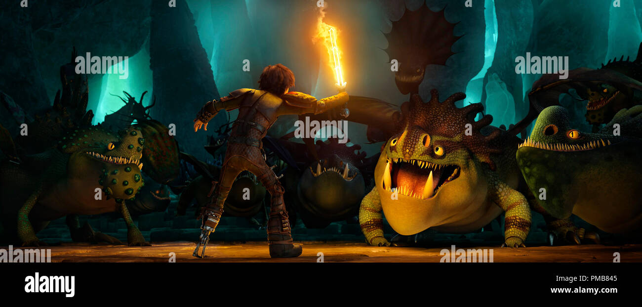 How To Train Your Dragon 2 2014 Hiccup Jay Baruchel Makes A Surprising Discovery Stock Photo Alamy