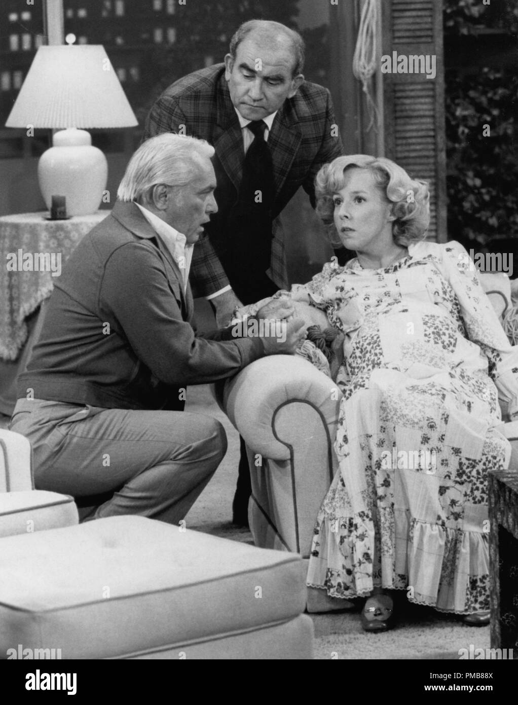 Ted Knight, Edward Asner, Georgia Engel  'The Mary Tyler Moore Show' (1970 - 1977) CBS File Reference # 32337_032THA - Stock Image