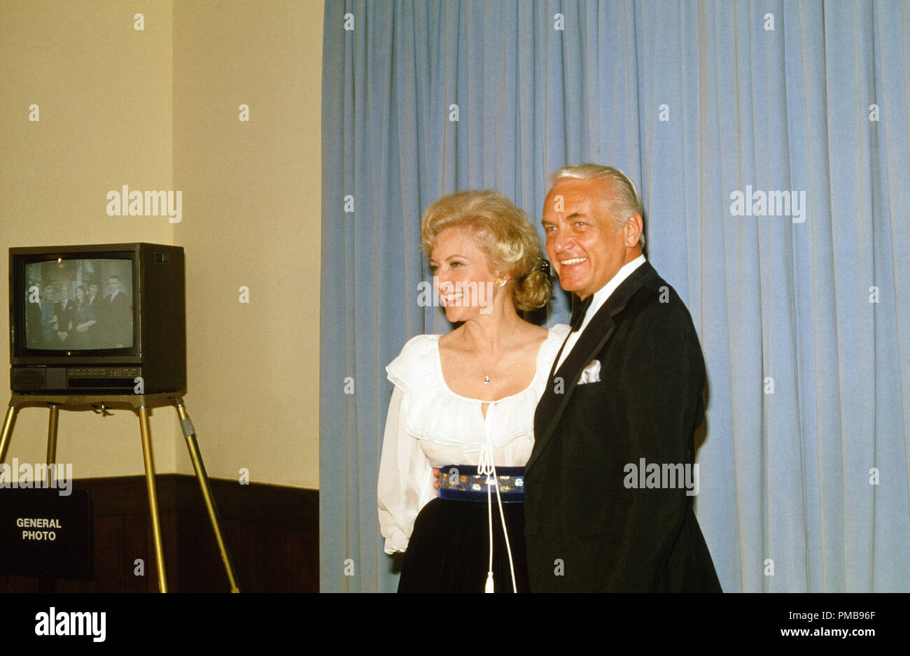 Betty White and Ted Knight at the 33rd Annual Emmy Awards, 1981 File Reference # 32557_526THA - Stock Image