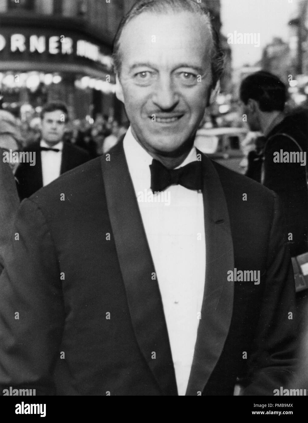 David Niven at the premiere of Barbra Streisand's stage show, 'Funny Girl'1966  File Reference # 32557_883THA - Stock Image