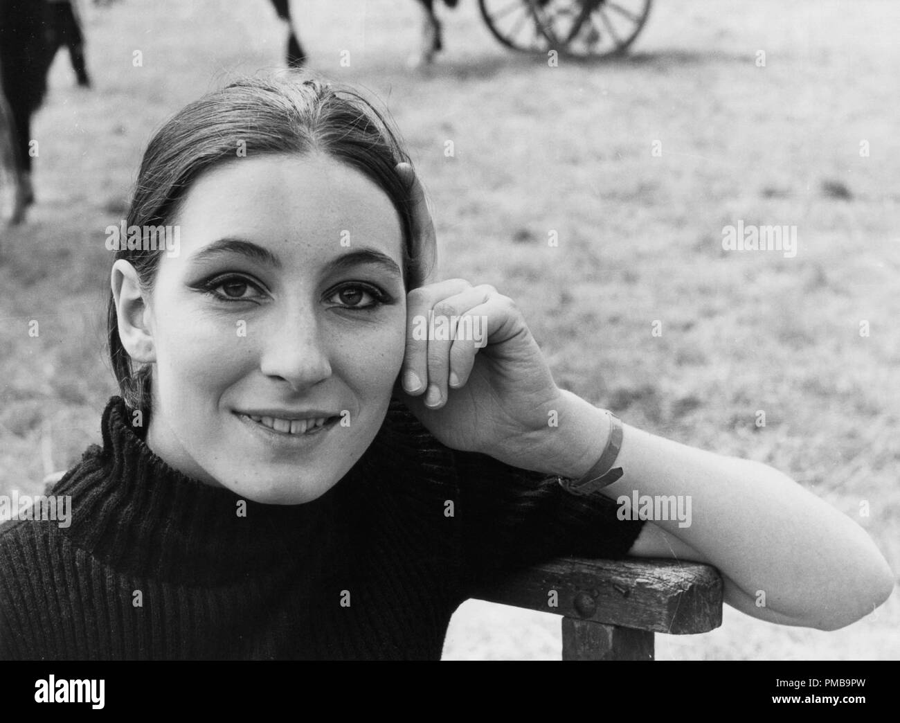 Anjelica Huston in Ireland during the making of 'Sinful Davey', 1967  File Reference # 32557_930THA - Stock Image