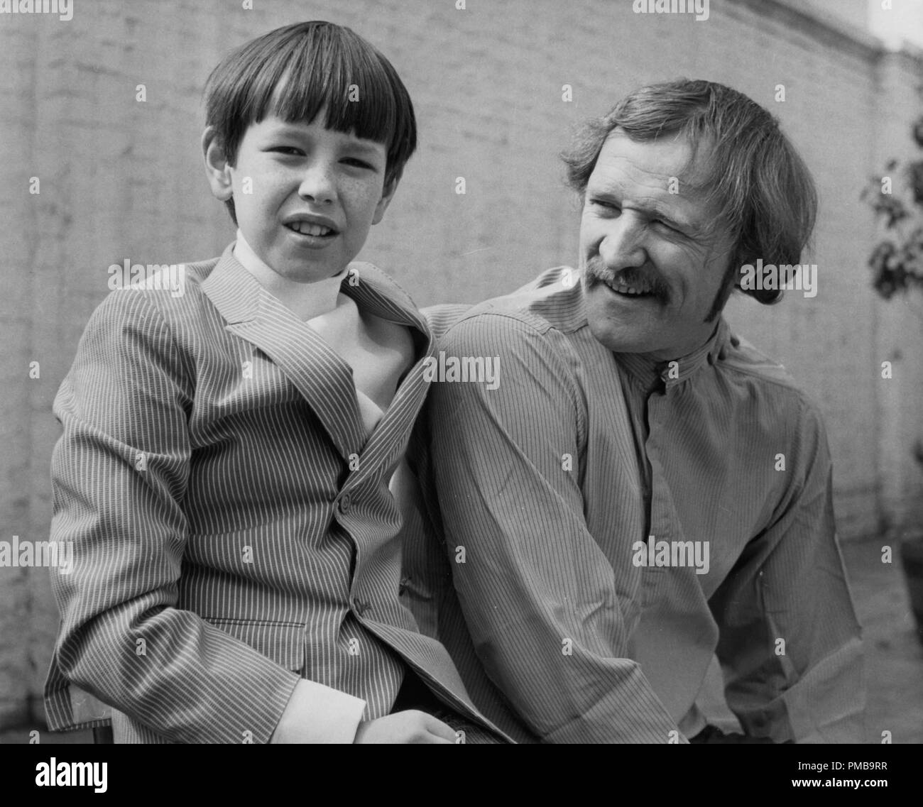 Richard Harris with his 9 year old son, Damian, 1968  File Reference # 32557_954THA - Stock Image