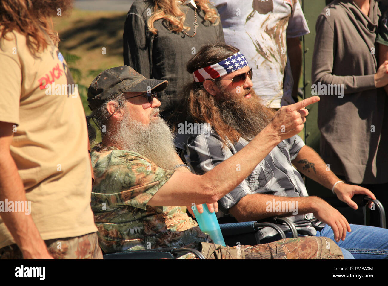 Phil and Willie Robertson, 'Duck Dynasty', 2015 A&E - Stock Image