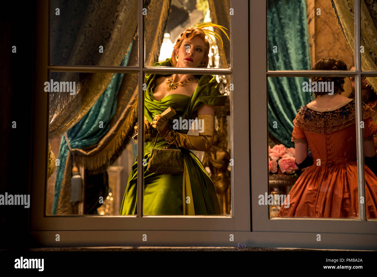 Cate Blanchett is the Stepmother in Disney's live-action feature CINDERELLA which brings to life the timeless images from Disney's 1950 animated masterpiece as fully-realized characters in a visually dazzling spectacle for a whole new generation. - Stock Image