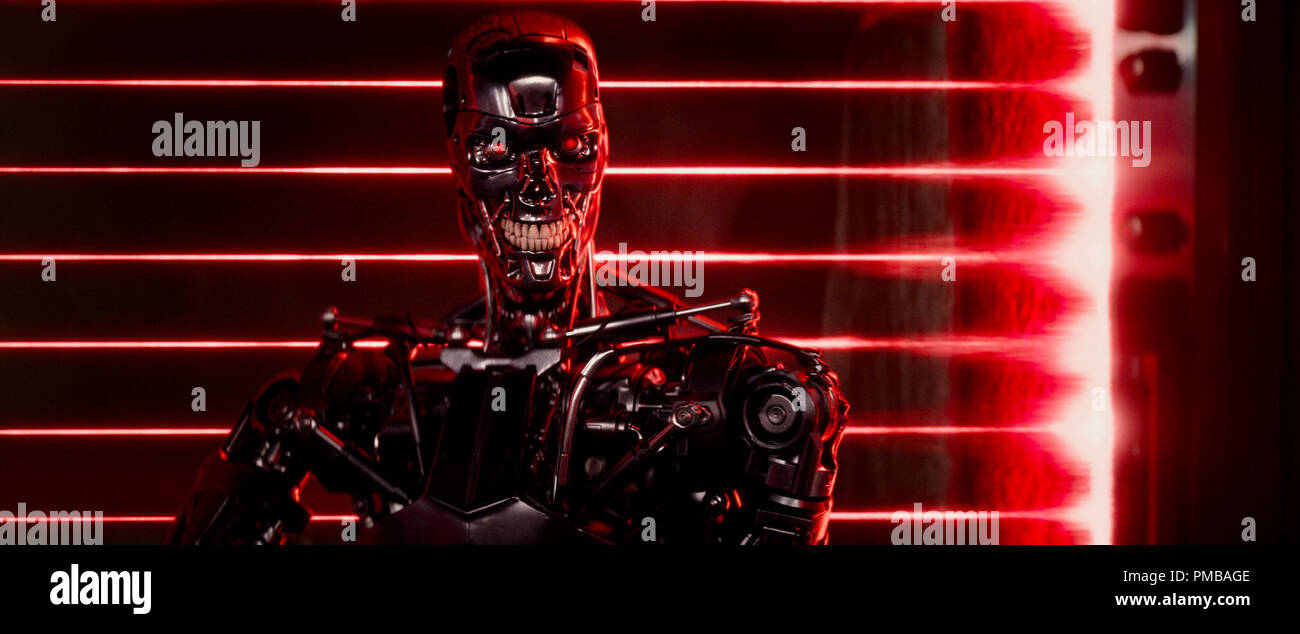 Series T-800 Robot in TERMINATOR GENISYS from Paramount Pictures and Skydance Productions. - Stock Image
