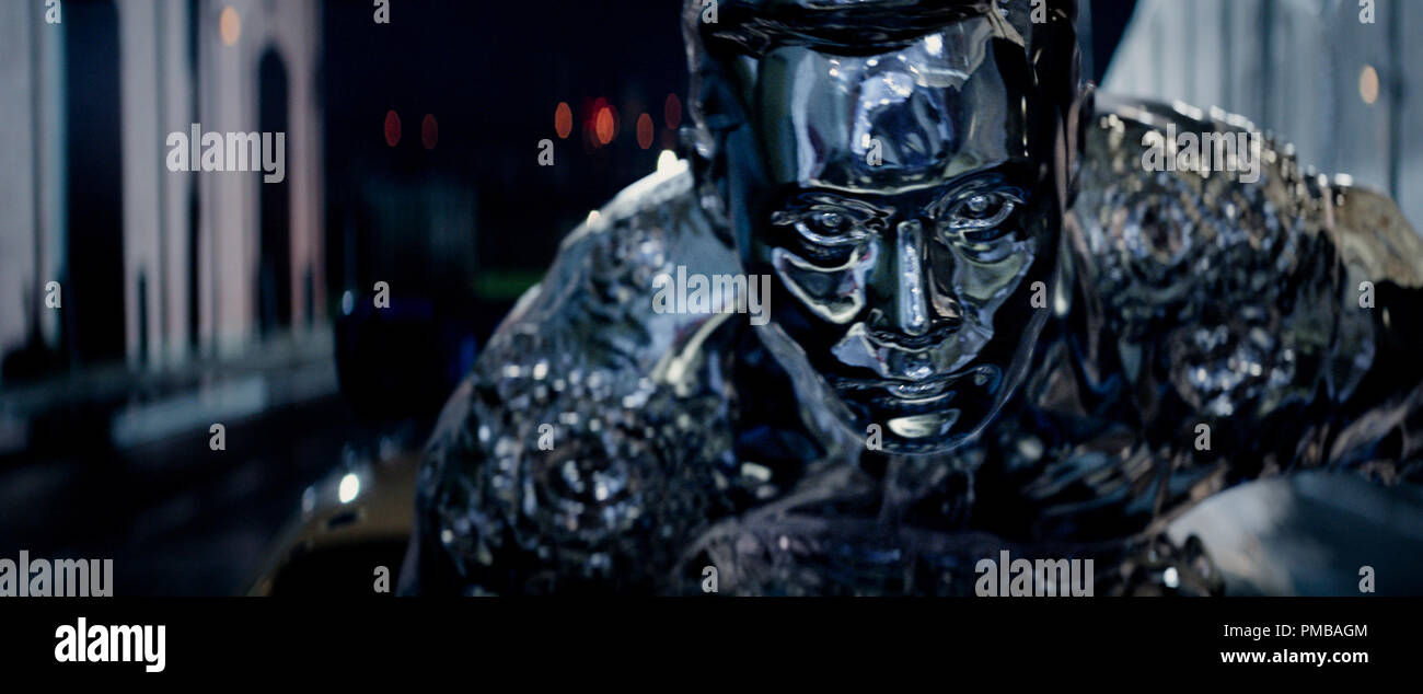 Byung-hun Lee plays T-1000 in TERMINATOR GENISYS from Paramount Pictures and Skydance Productions. - Stock Image