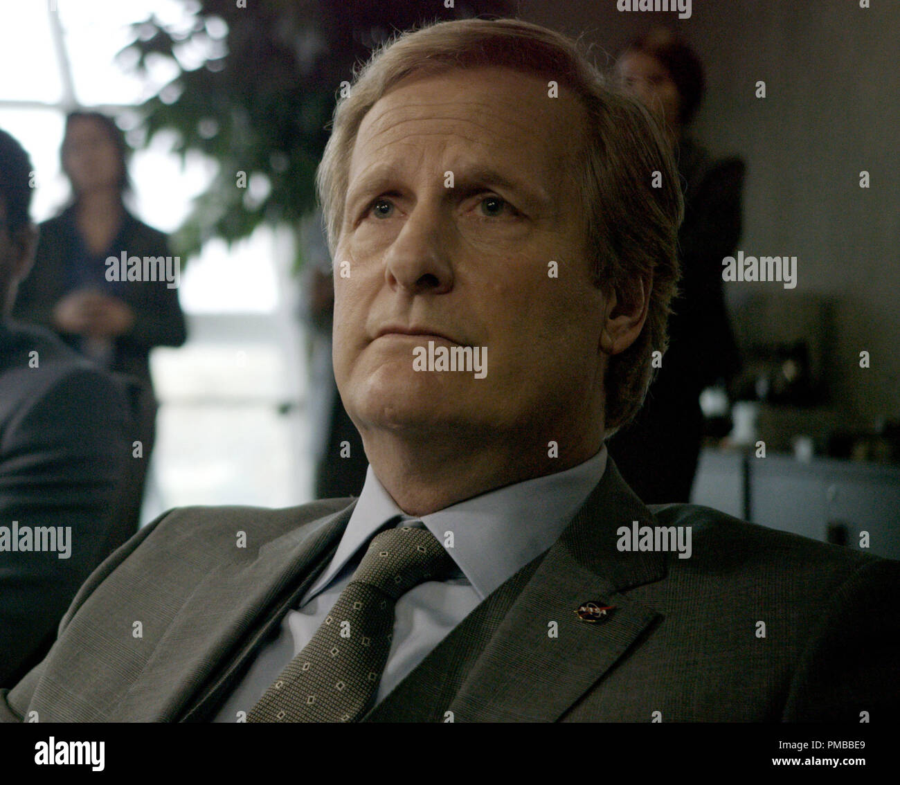 Jeff Daniels is a NASA administrator who closely monitors the fate of an astronaut stranded on Mars in THE MARTIAN. - Stock Image