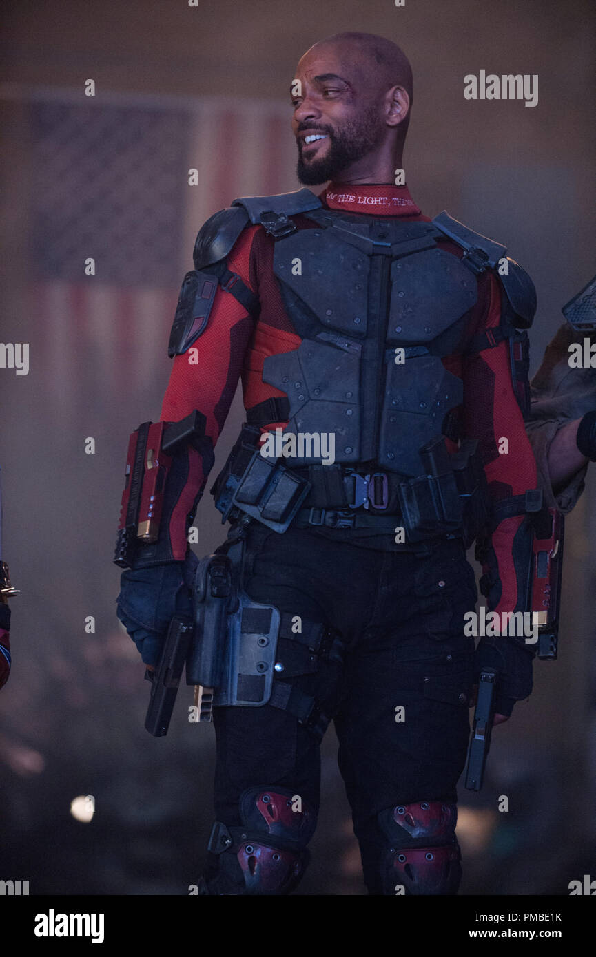 WILL SMITH as Deadshot in Warner Bros. Pictures' action adventure 'SUICIDE SQUAD,' a Warner Bros. Pictures release. - Stock Image