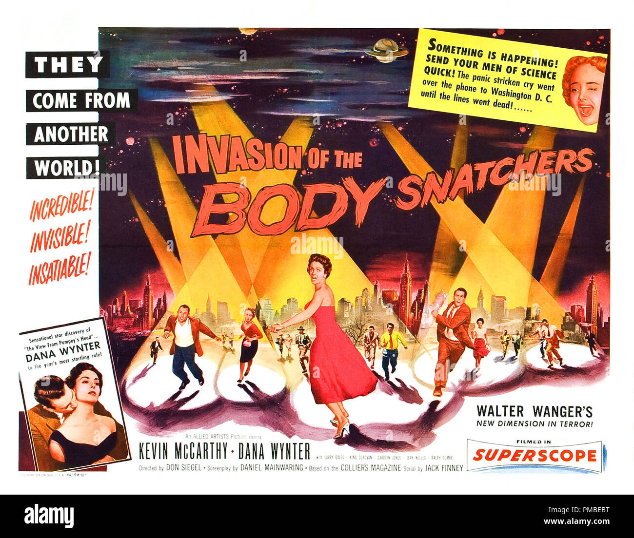 'Invasion of the Body Snatchers', 1956 Allied Artists  Lobby Card File Reference # 33371_612THA - Stock Image