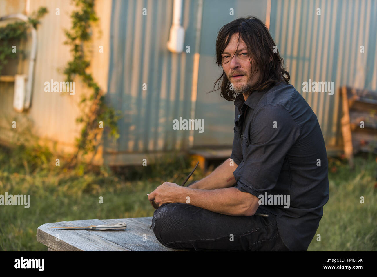 Norman Reedus, 'The Walking Dead' Season 7 (2016-2017) AMC - Stock Image