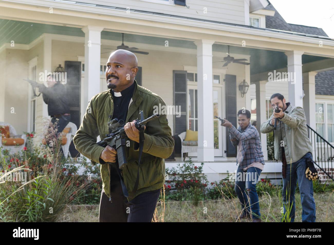 Seth Gilliam, 'The Walking Dead' Season 7 (2016-2017) AMC - Stock Image