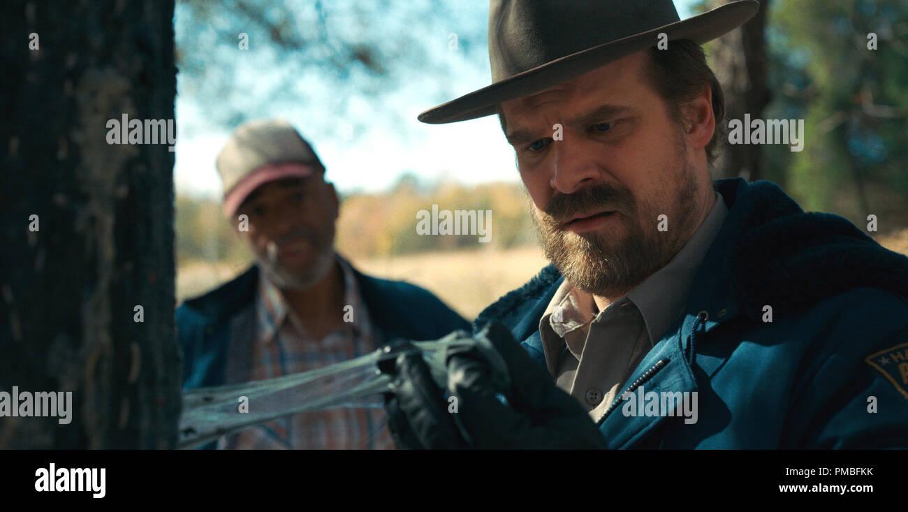 David Harbour, 'Stranger Things' Season 2 (2017) Netflix - Stock Image