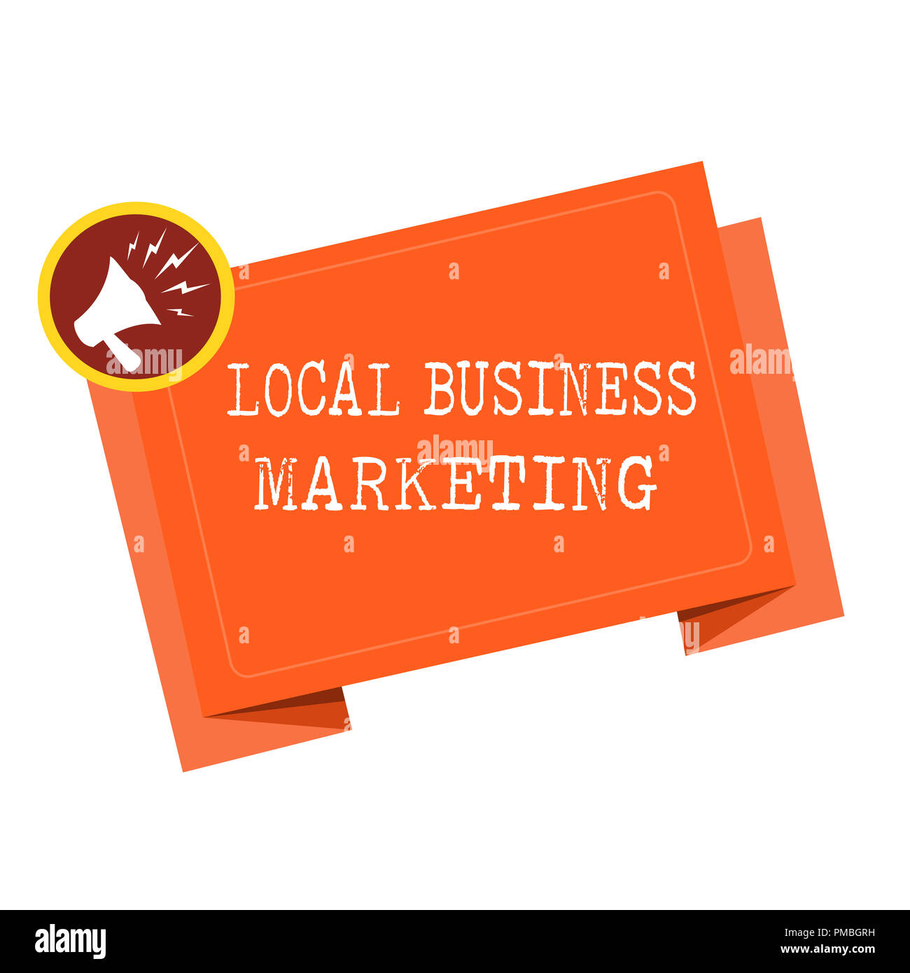 Word writing text Local Business Marketing. Business concept for Localized specification on Store characteristic . - Stock Image