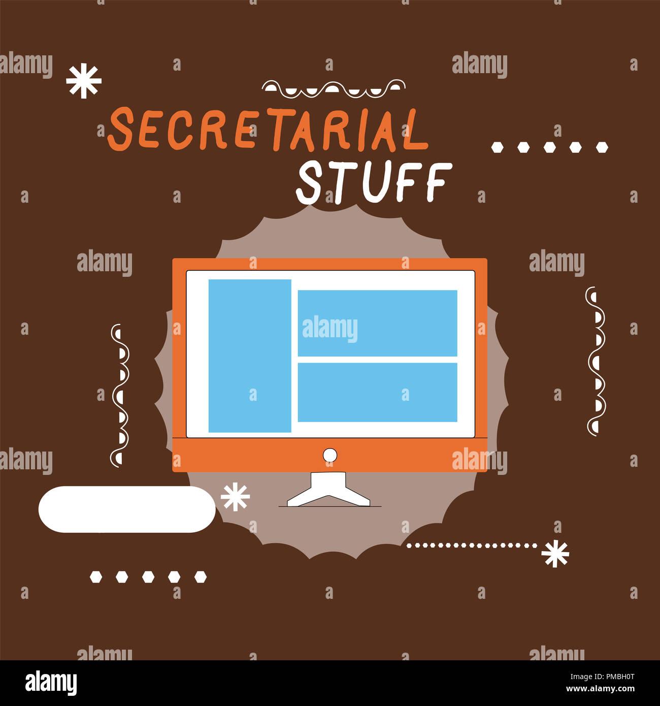 Writing note showing Secretarial Stuff  Business photo