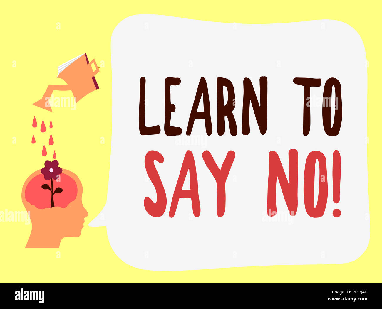 Handwriting text Learn To Say No. Concept meaning dont hesitate tell that you dont or want doing something. - Stock Image