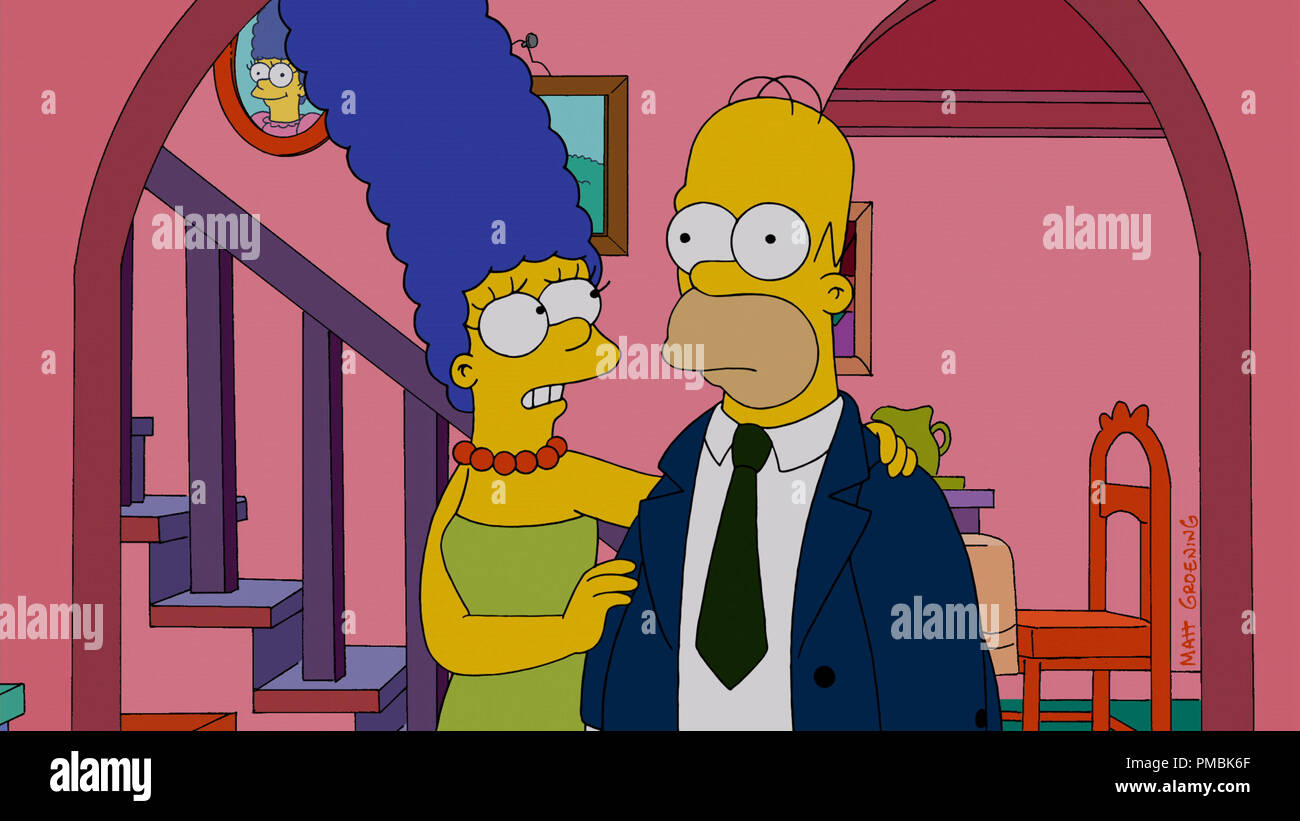 THE SIMPSONS: Homer returns a changed man from a nuclear power plant operating convention - Stock Image