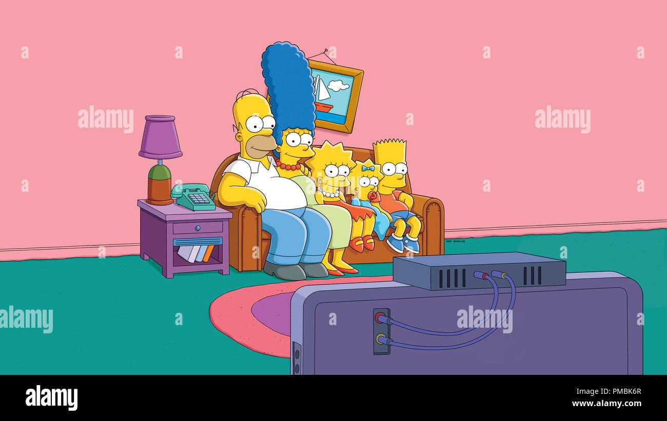 The Simpsons The Simpson Family Stock Photo Alamy