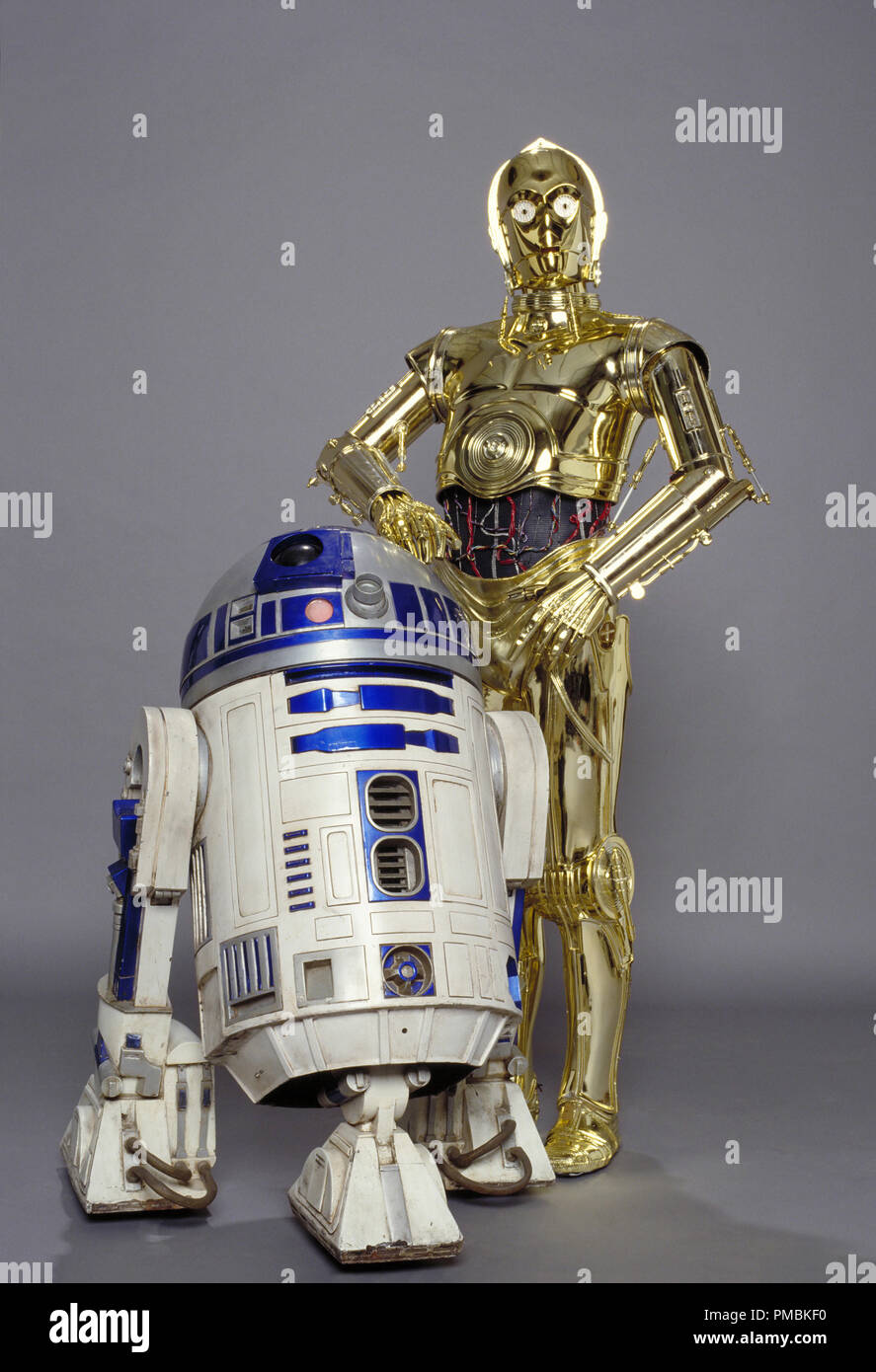 The faithful droids R2-D2 and C-3PO have been in all six movies of the Star Wars saga, and naturally return in Star Wars: Episode III Revenge of the Sith. TM & © 2005 Lucasfilm Ltd. All Rights Reserved. - Stock Image