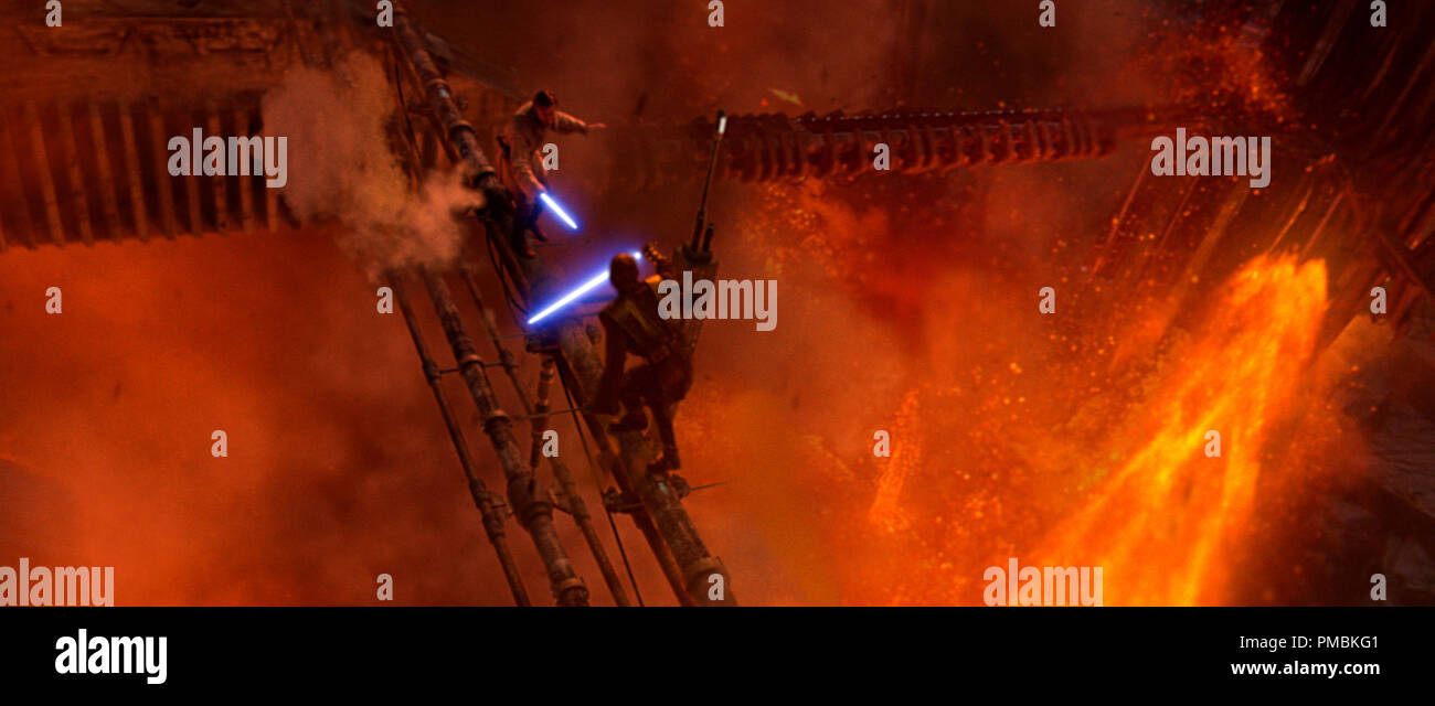 Anakin Skywalker Hayden Christensen And His Onetime Mentor Obi Wan Kenobi Ewan Mcgregor Fight An Apocalyptic Battle On The Roiling Lava Surface Of The Planet Mustafar In Star Wars Episode Iii Revenge Of