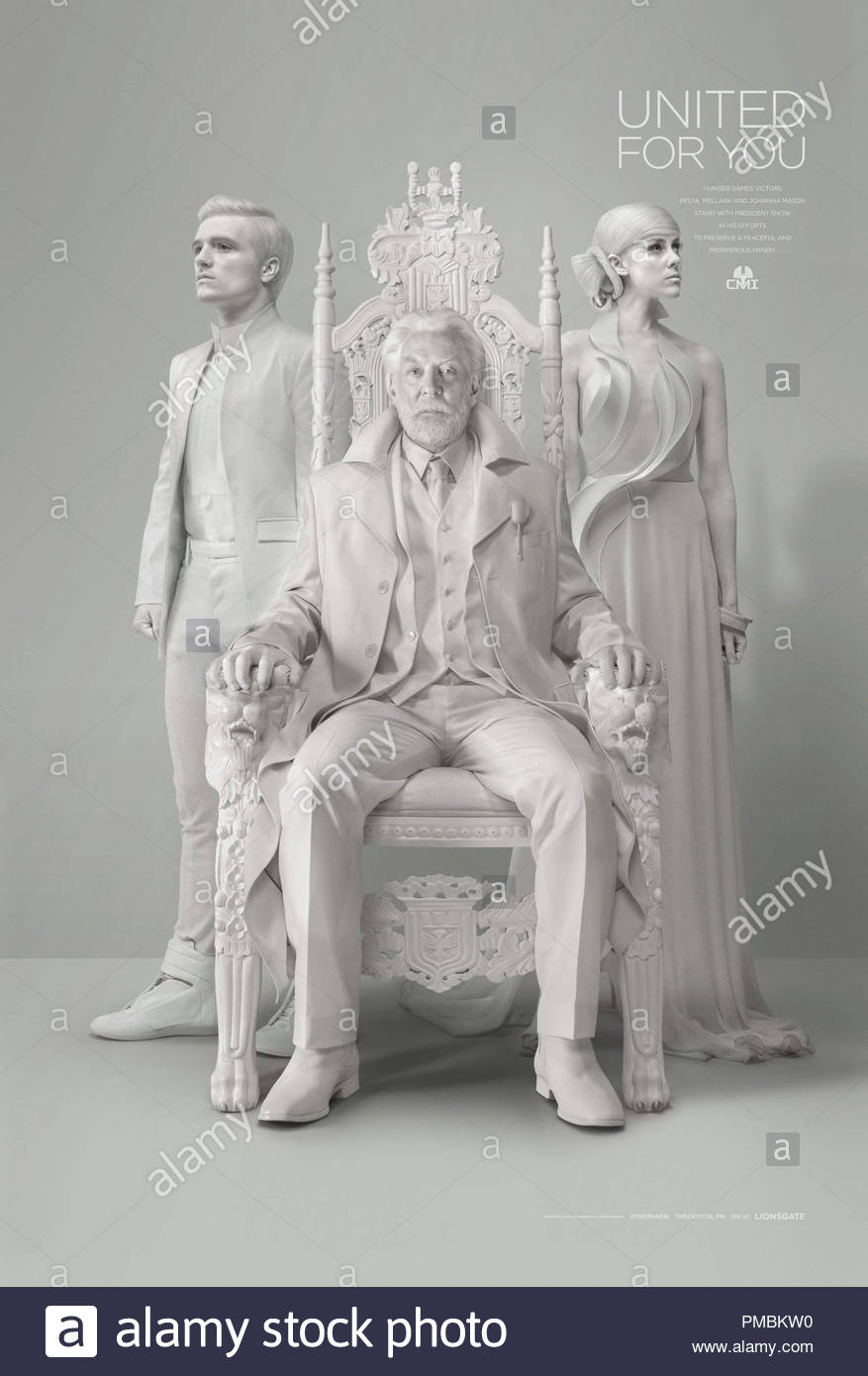 THE HUNGER GAMES: MOCKINGJAY - PART 1 (2014)  President Snow's Official Portrait - Stock Image
