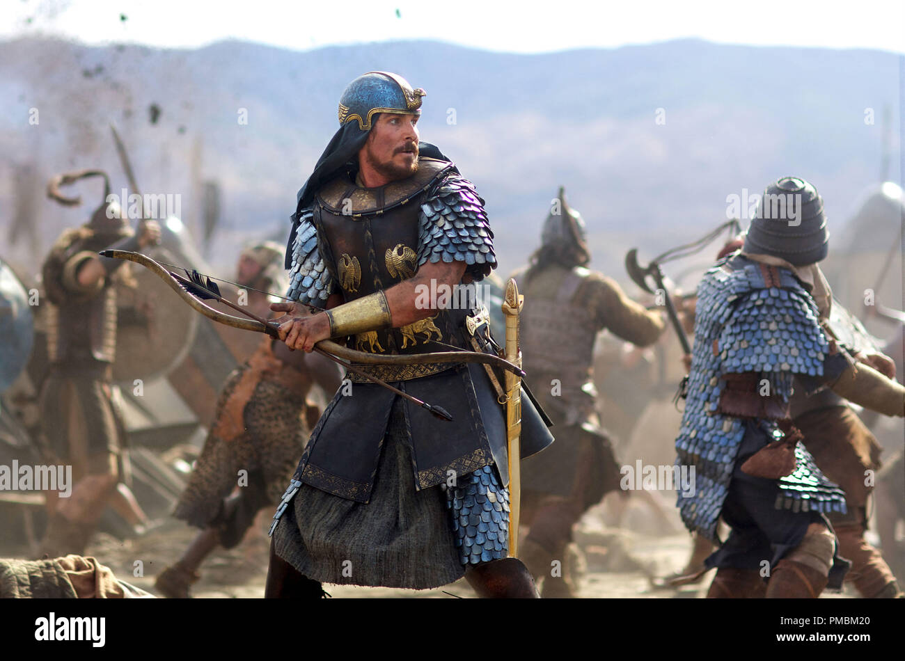 Christian Bale stars as Moses in EXODUS: GODS AND KINGS - Stock Image