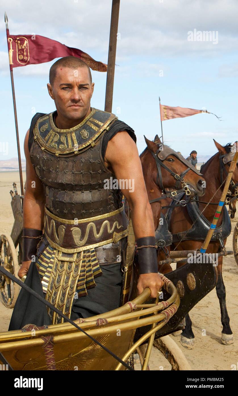 'Exodus: Gods and Kings' (2014) Joel Edgerton stars as the Egyptian Pharaoh Ramses. - Stock Image