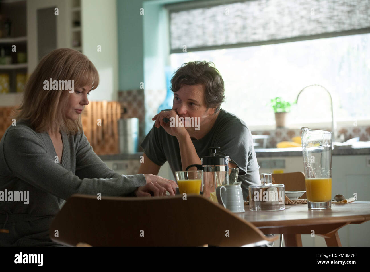 Amnesiac Christine Lucas (NICOLE KIDMAN) must decide if everything her husband, Ben (COLIN FIRTH), tells her is the truth in BEFORE I GO TO SLEEP - Stock Image