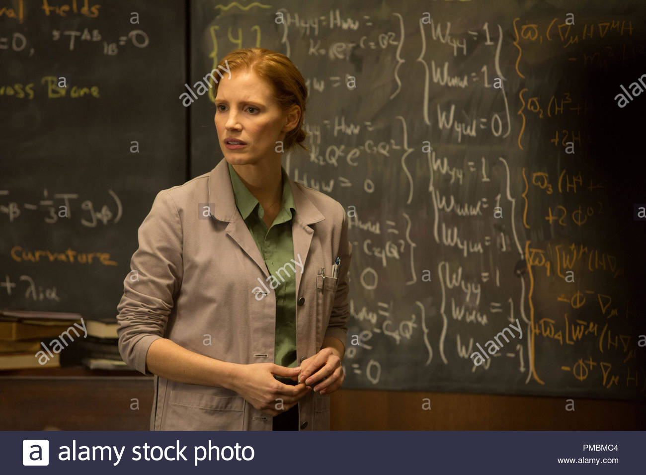Jessica Chastain in INTERSTELLAR, from Paramount Pictures and Warner Brothers Pictures, in association with Legendary Pictures. - Stock Image