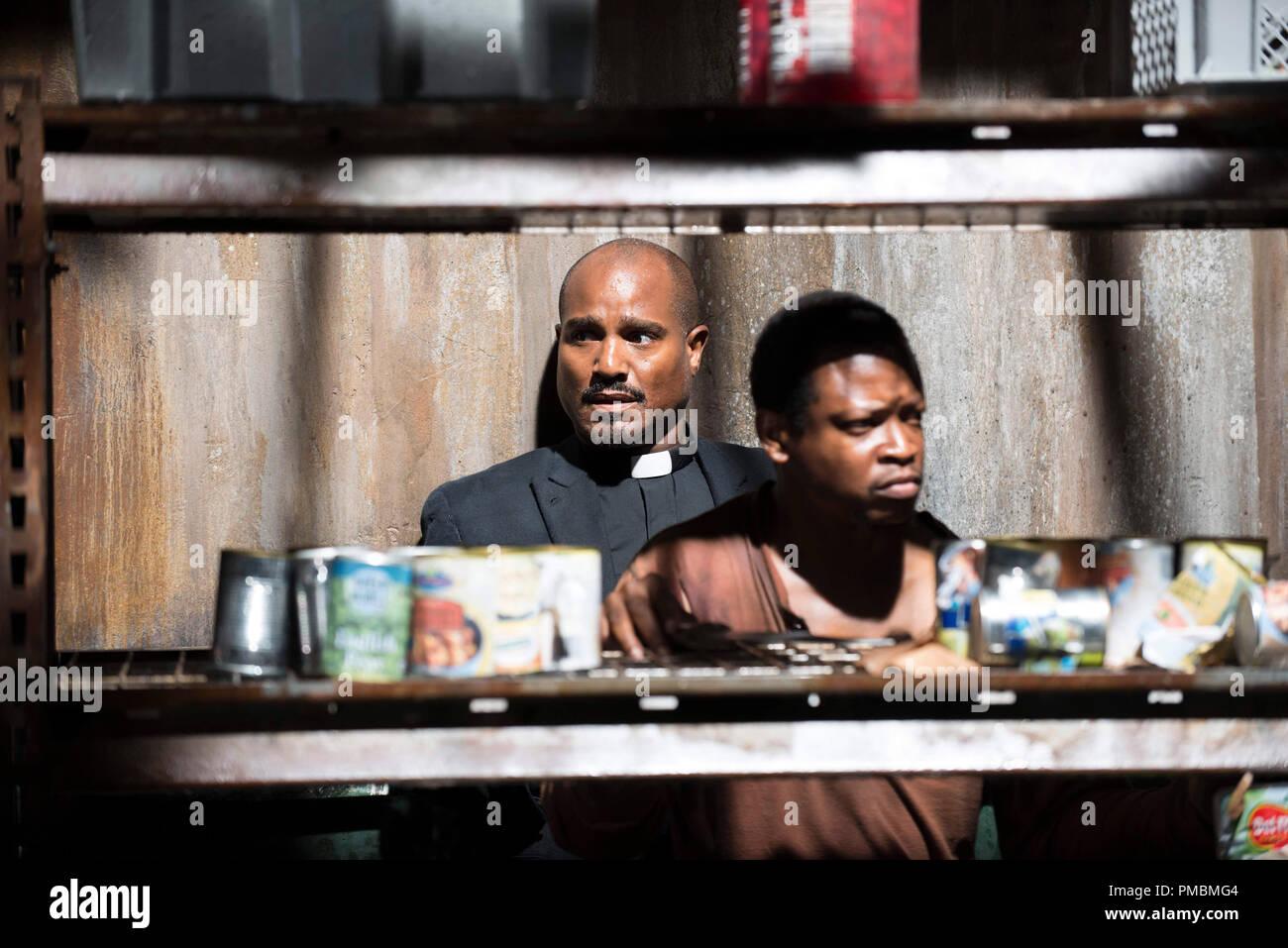 Seth Gilliam, Sonequa Martin-Green, 'The Walking Dead', Season 5 - Stock Image