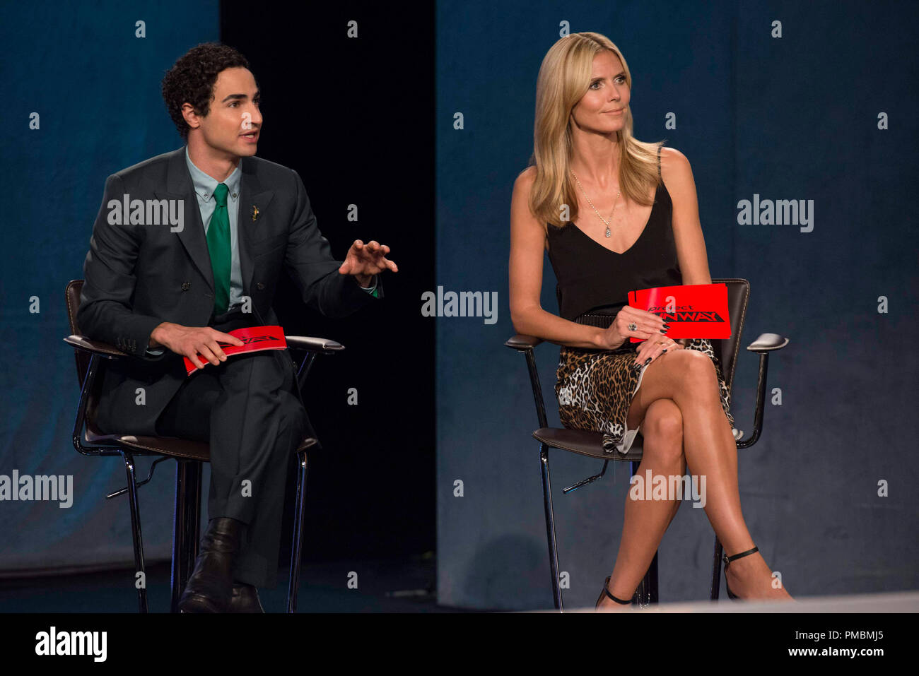 "Zac Posen, Heidi Klum, ""Project Runway"", Season 13 Stock Photo"