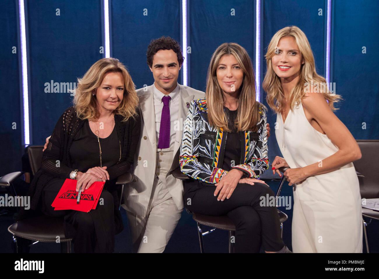 """Caroline Scheufele, Nina Garcia, Zac Posen, Heidi Klum, """"Project Runway"""", Season 13 Stock Photo"""