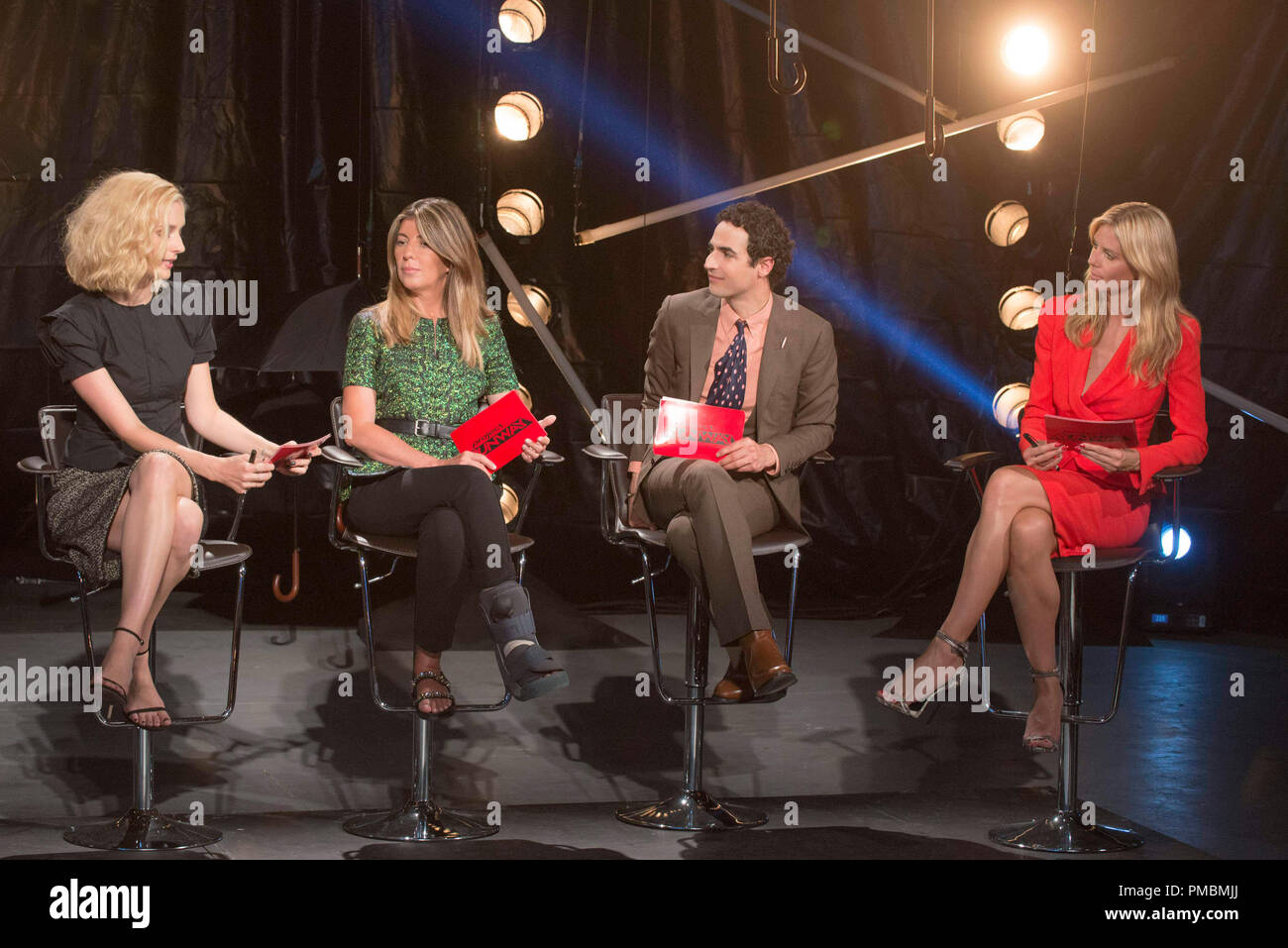 "Caitlin Fitzgerald, Nina Garcia, Zac Posen, Heidi Klum, ""Project Runway"", Season 13 Stock Photo"