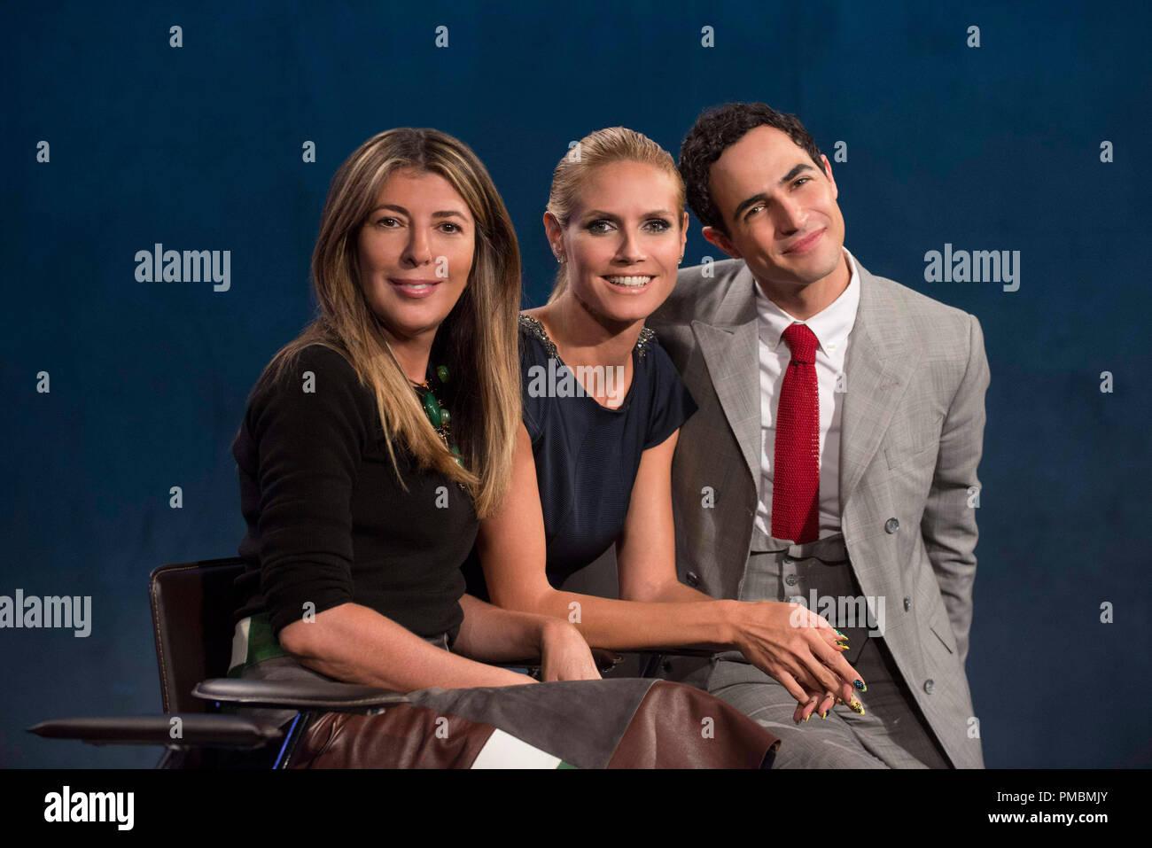 Nina Garcia, Heidi Klum and Zac Posen, 'Project Runway', Season 13 - Stock Image
