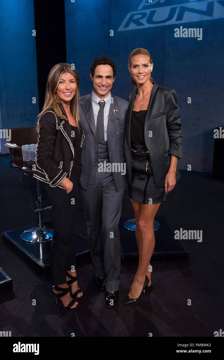 "Nina Garcia, Zac Posen and Heidi Klum, ""Project Runway"", Season 13 Stock Photo"