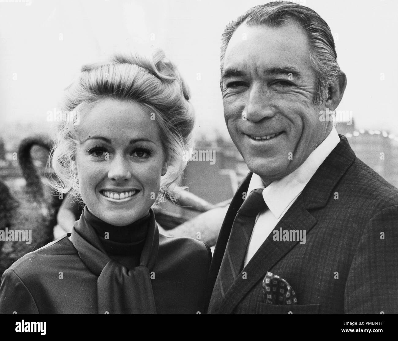 Jan Daley And Anthony Quinn In London 1970 Jrc The Hollywood Archive All Rights Reserved File Reference 32603 056tha