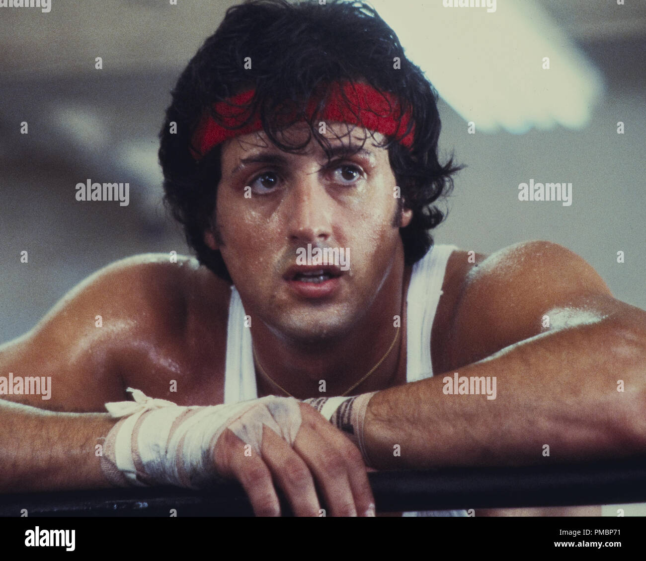 Sylvester Stallone, 'Rocky II' 1979 UA  File Reference # 32603_285THA - Stock Image
