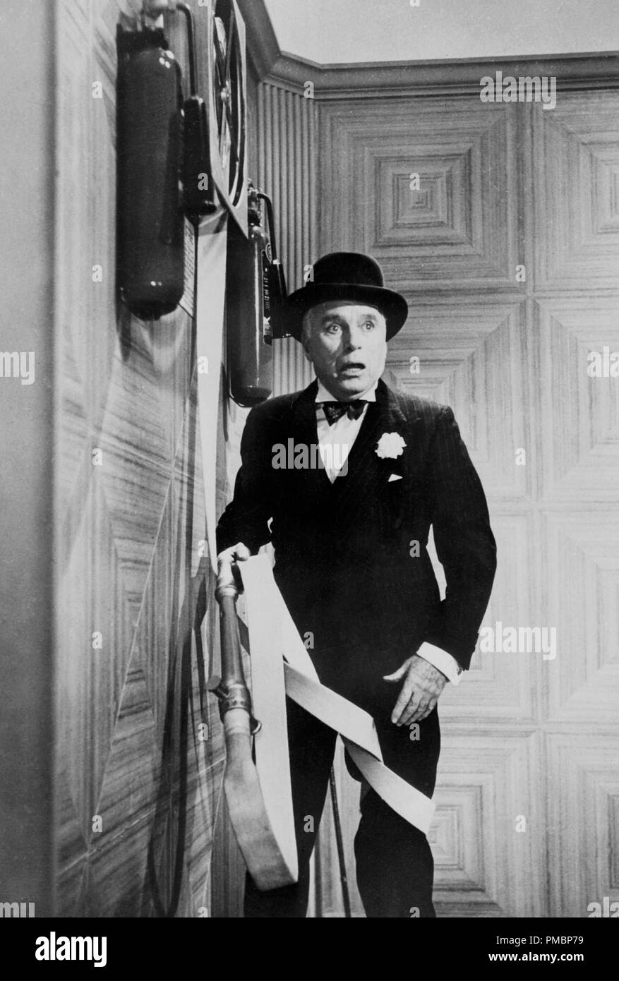 Charles Chaplin, 'A King of New York', 1957 Archway Ent.  File Reference # 32603_292THA - Stock Image