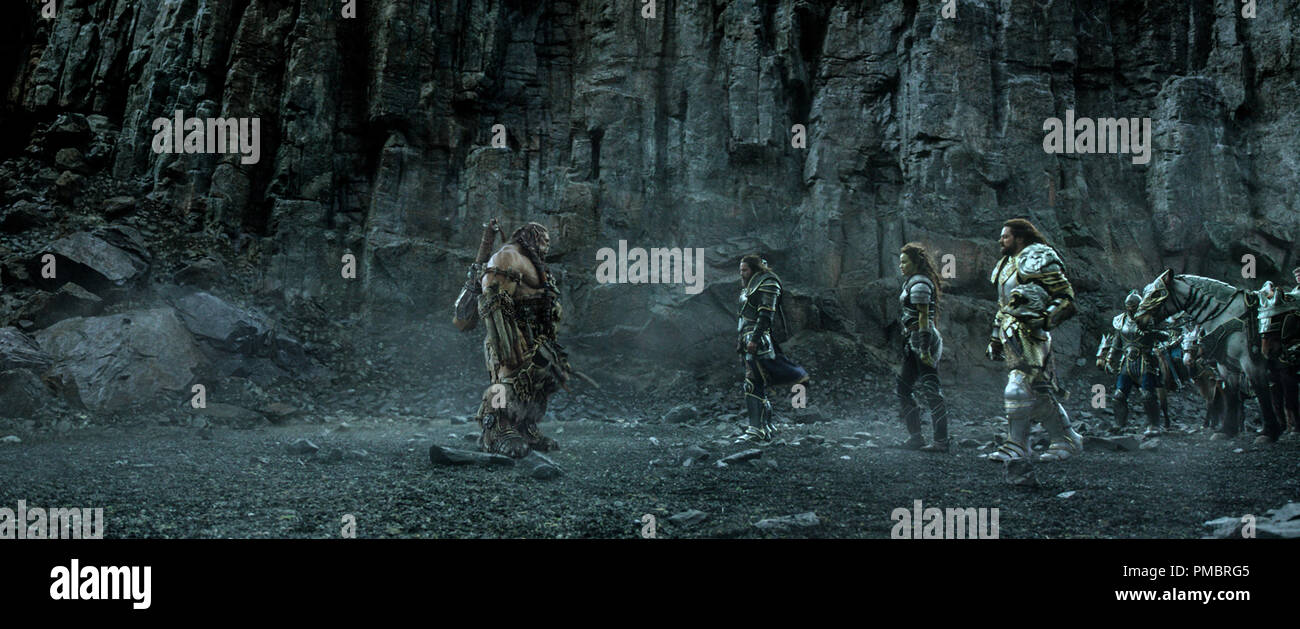 L To R Orc Chieftain Durotan Toby Kebbell Faces Off Against