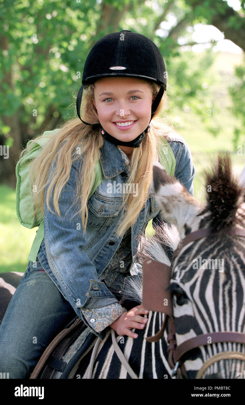 HAYDEN PANETTIERE in Alcon Entertainment's live action / CGI animation family motion picture 'Racing Stripes,' distributed by Warner Bros. Pictures. (2004) - Stock Image