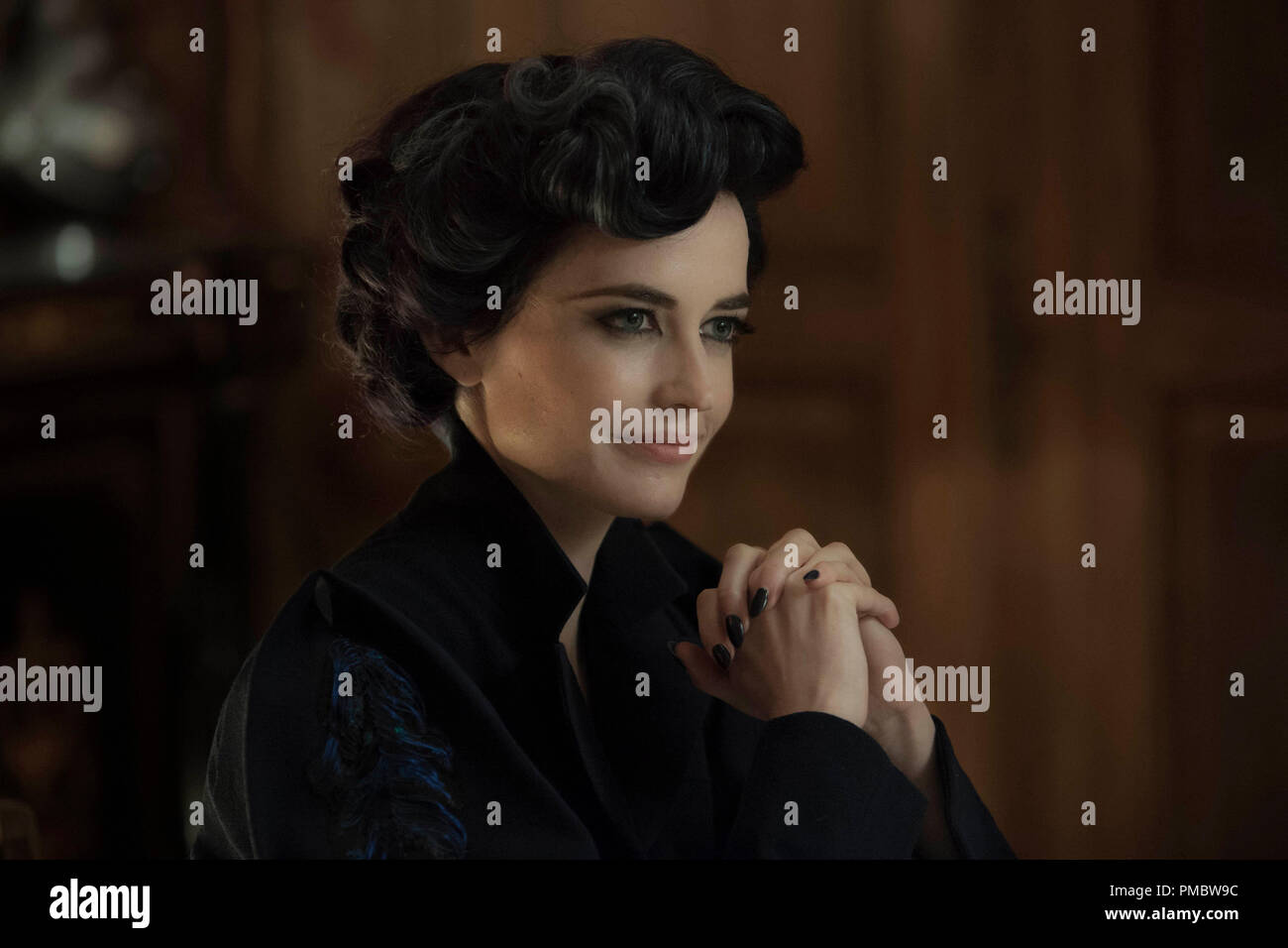 'Miss Peregrine's Home for Peculiar Children' (2016) Eva Green portrays Miss Peregrine, who oversees a magical place that is threatened by powerful enemies. - Stock Image