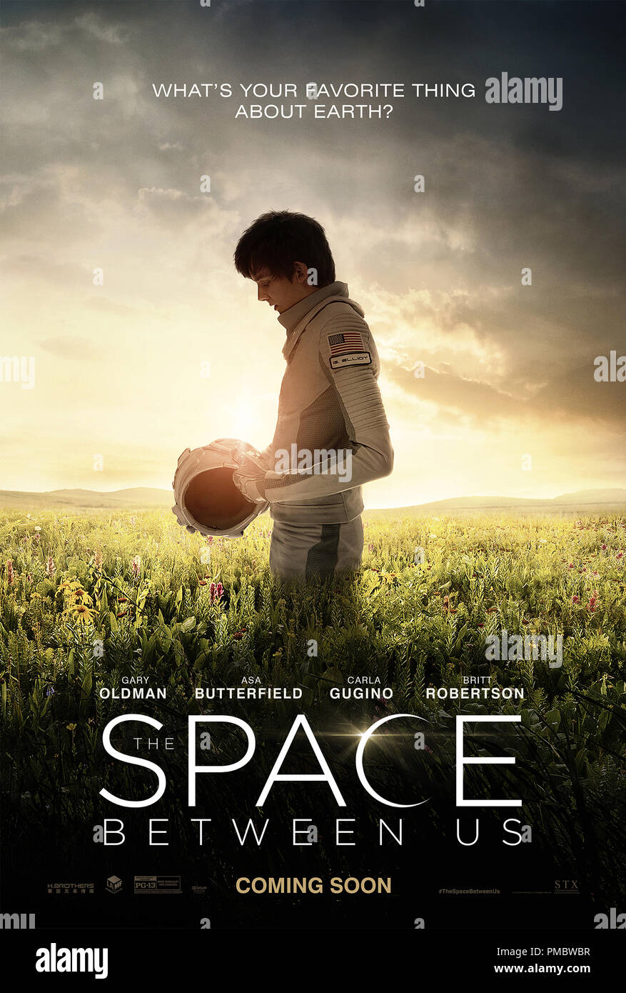 'The Space Between Us' (2016) STX Productions, LLC  Poster - Stock Image