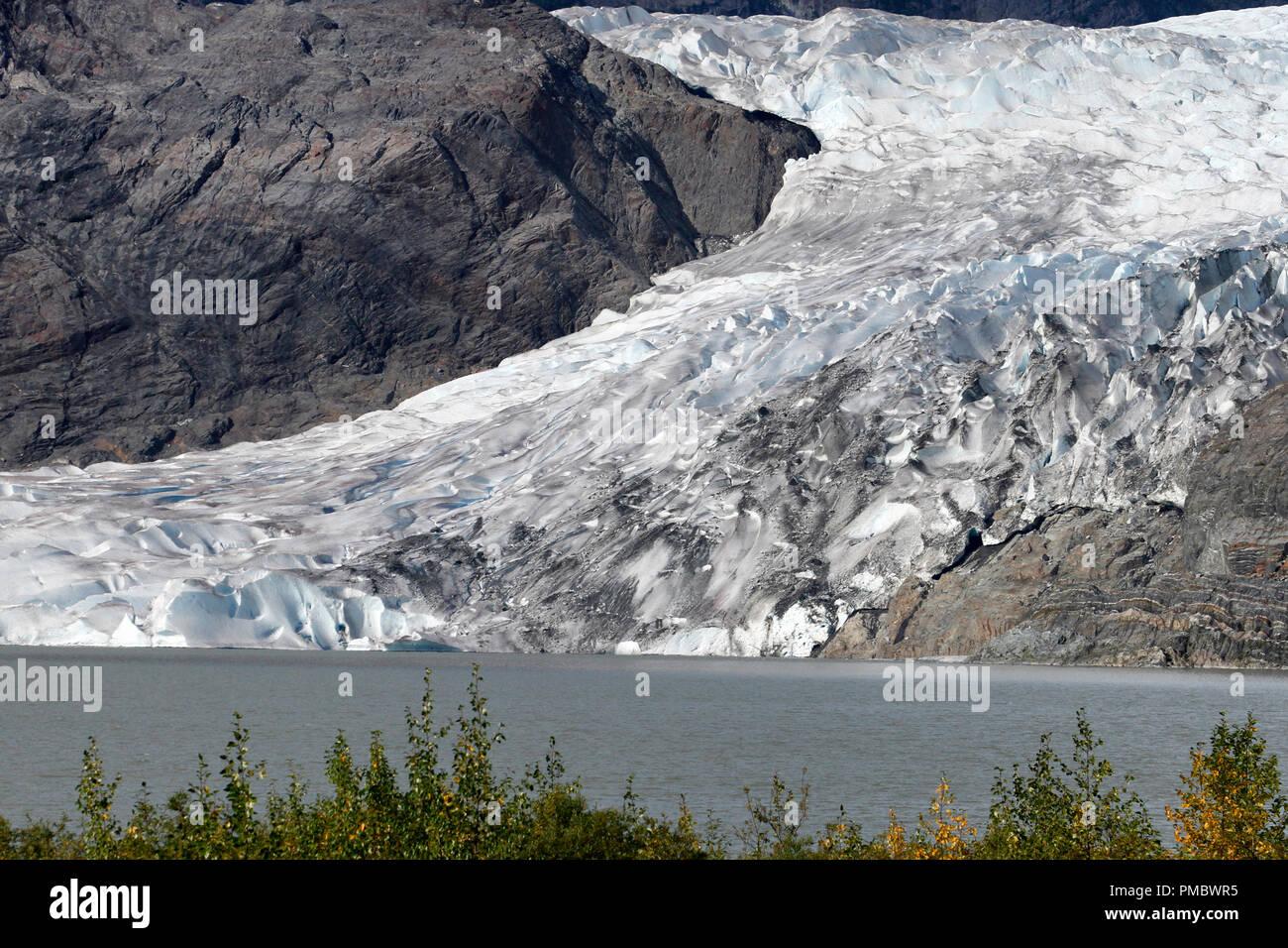 Mendenhall Glacier in Juneau, Alaska - Stock Image