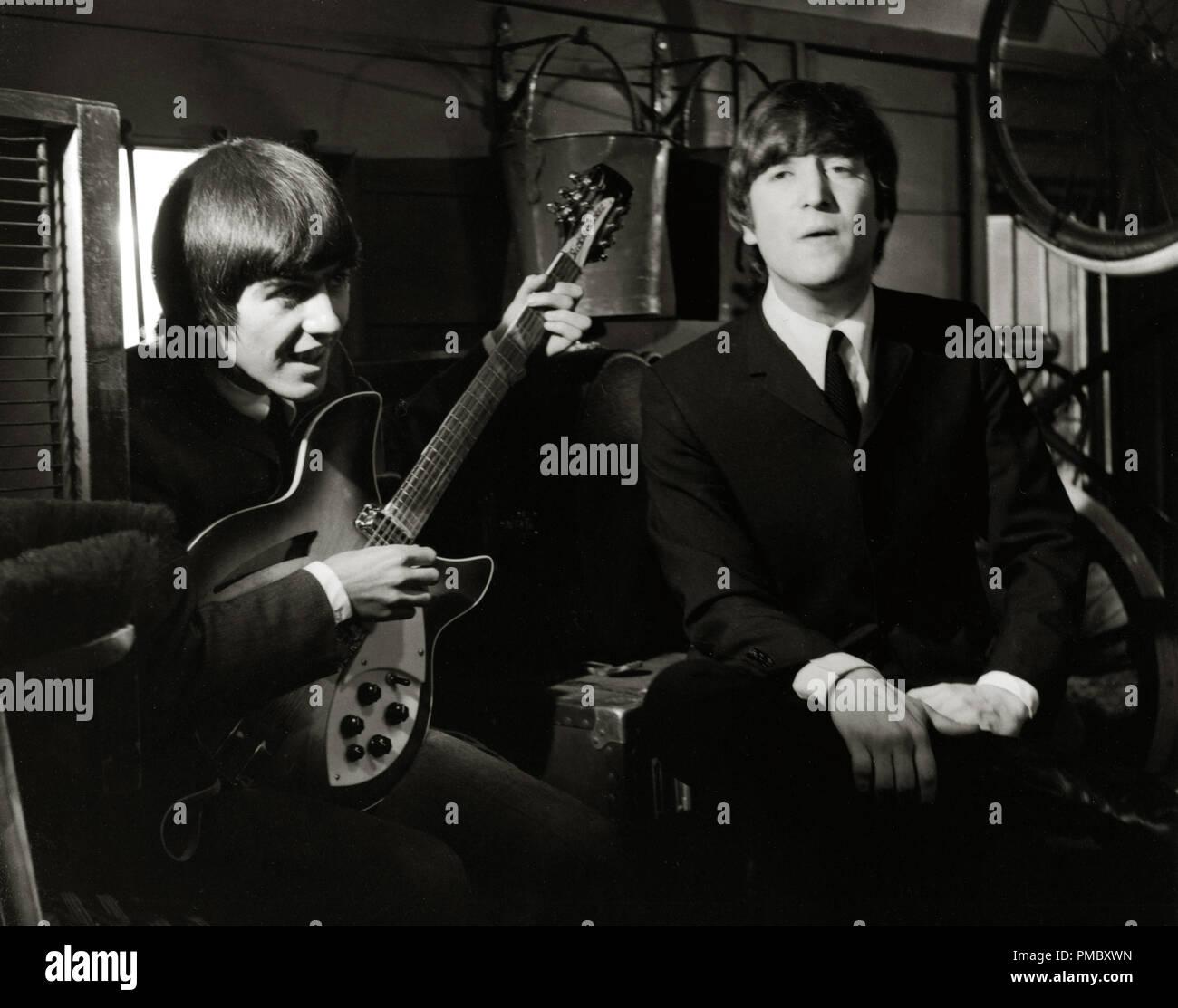 Beatles, George Harrison, John Lennon, 'A Hard Days Night', a Janus Films release, 1964 File Reference # 33300_133THA - Stock Image