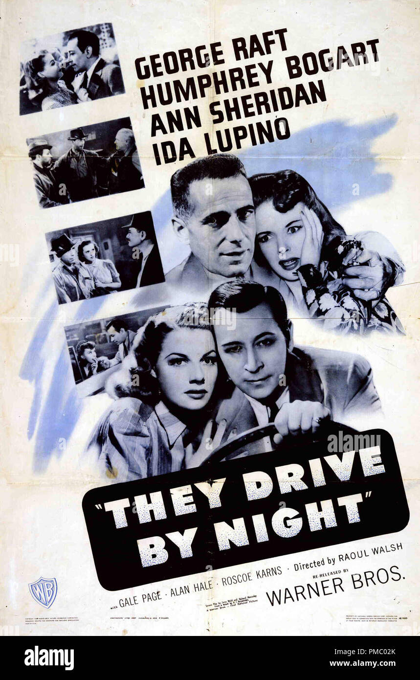 They drive by night Humphrey Bogart movie poster print