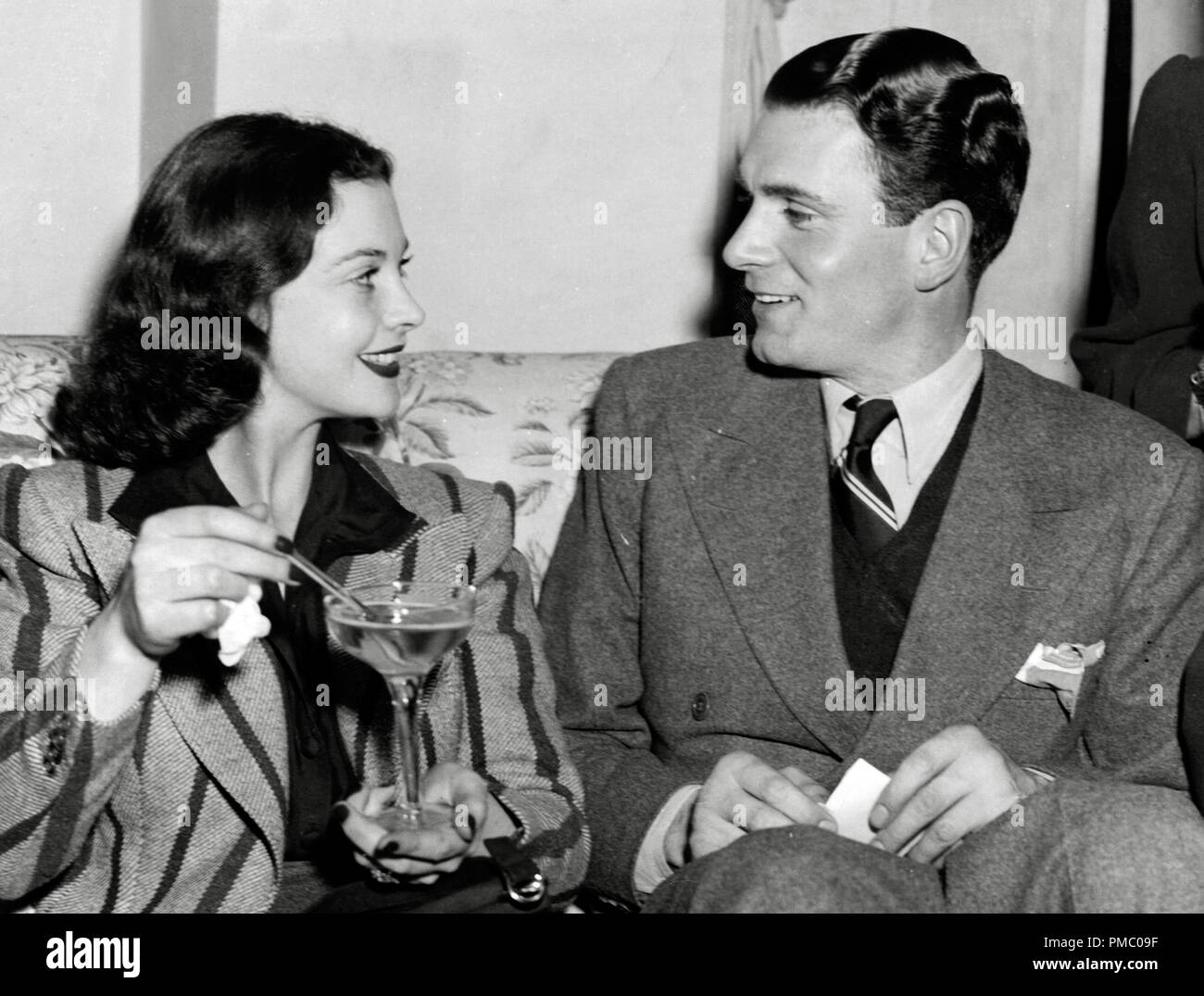 Vivien Leigh and Laurence Olivier,circa 1939  File Reference # 33480_929THA - Stock Image